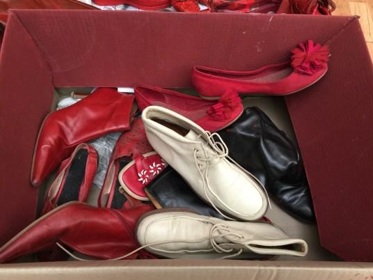 Zapatos donados