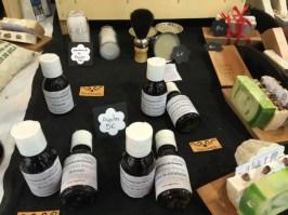 Aceites para masajes y jabón de afeitar