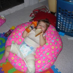 Princess Bean Bag Chair Pottery Barn Chairs Baby She Isnt Spoiled Or Anything Zoe 39s Hip Dysplasia Journey