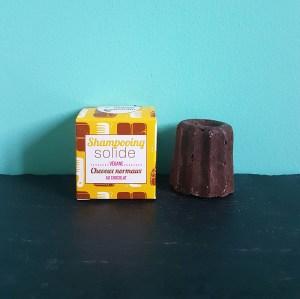 Shampoing solide au chocolat