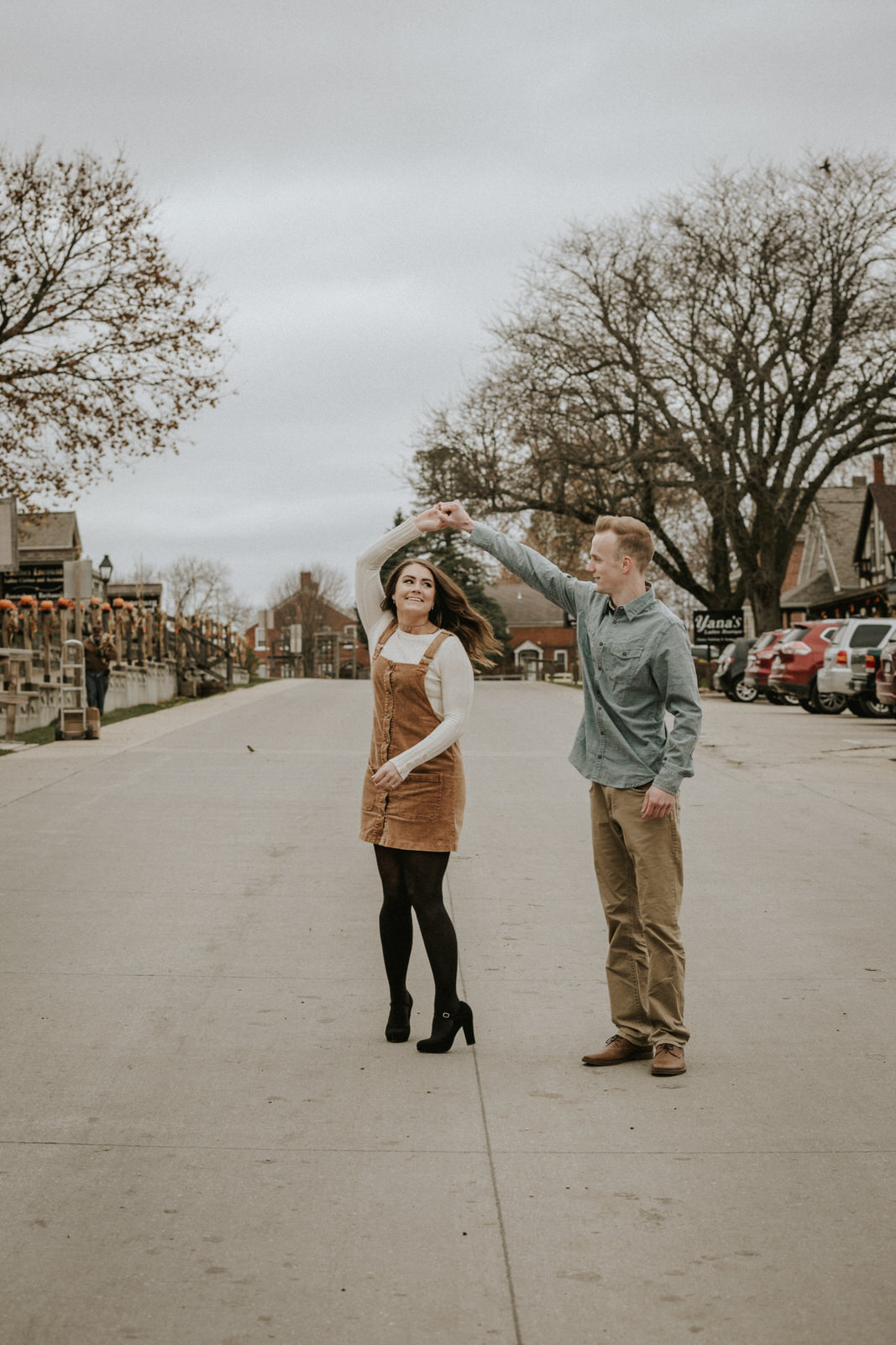 midwest engagement session with dog