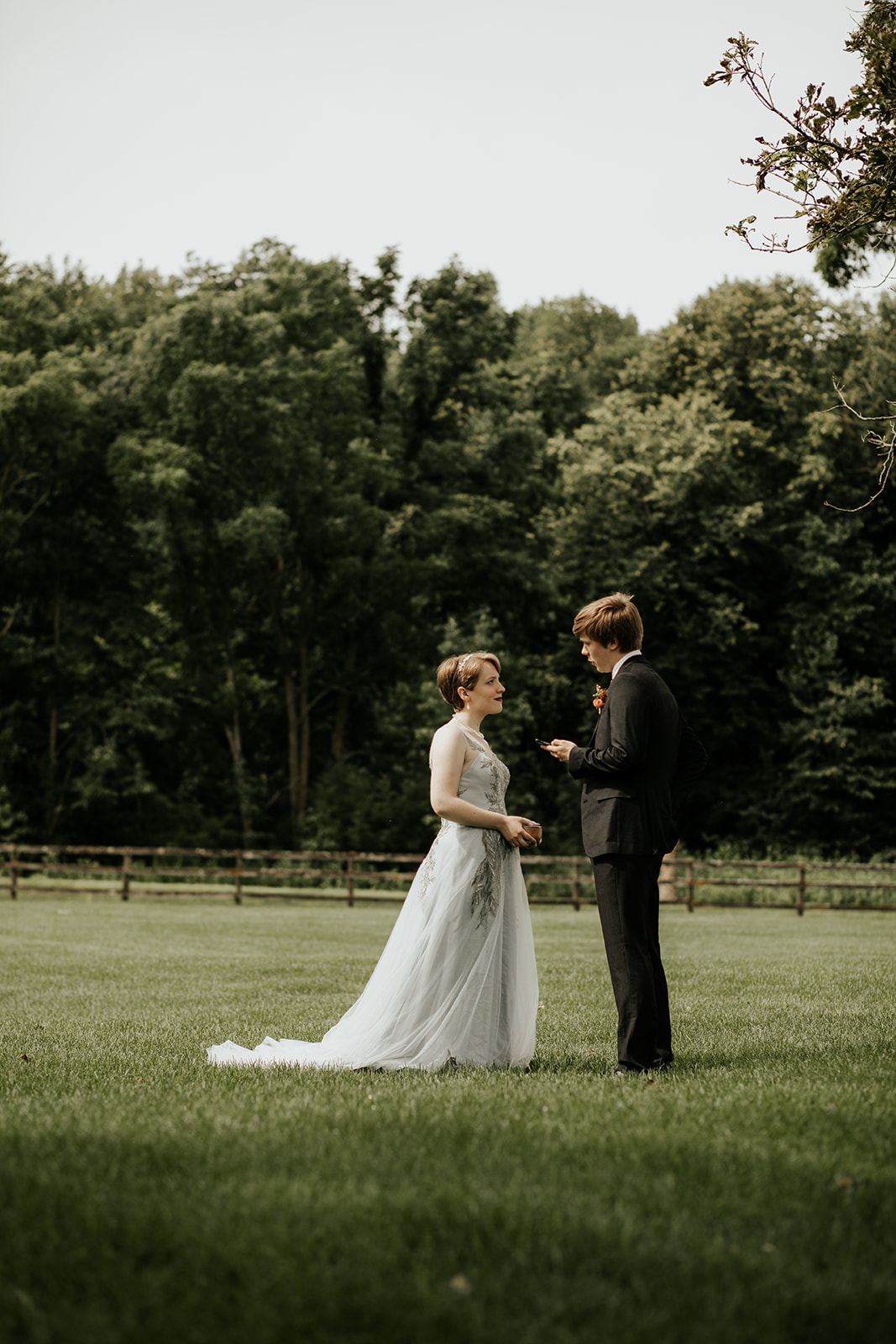 intimate summer wedding in minnesota private vow exchange