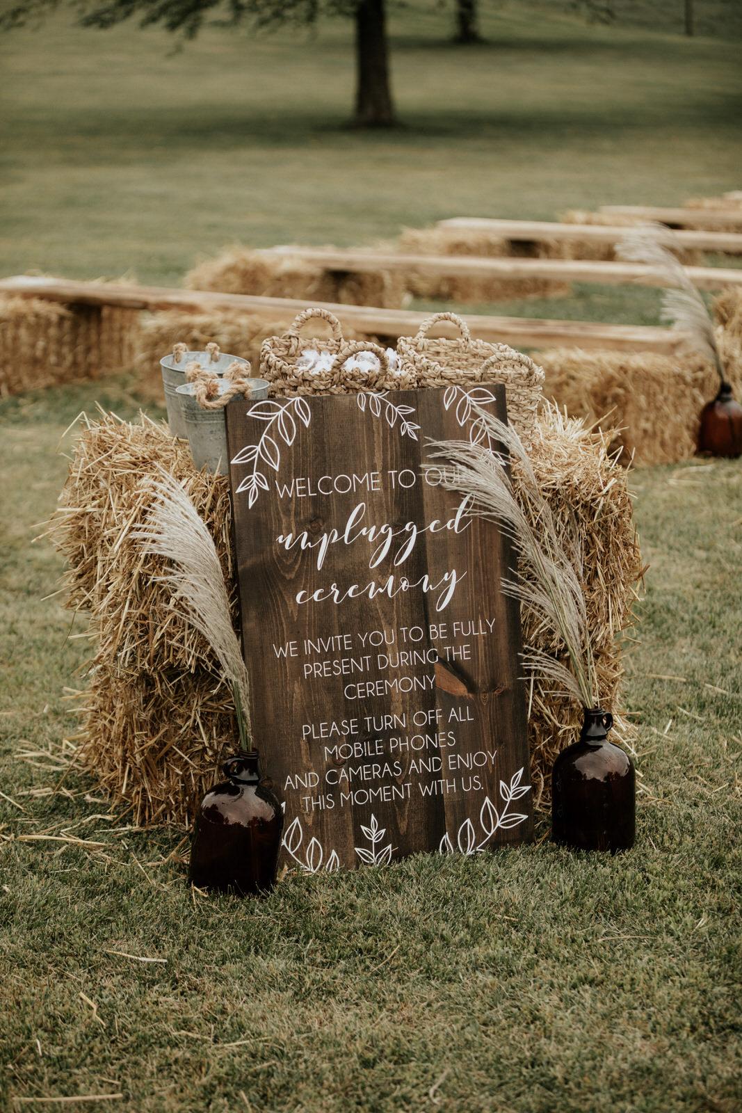 boho midwest farm wedding