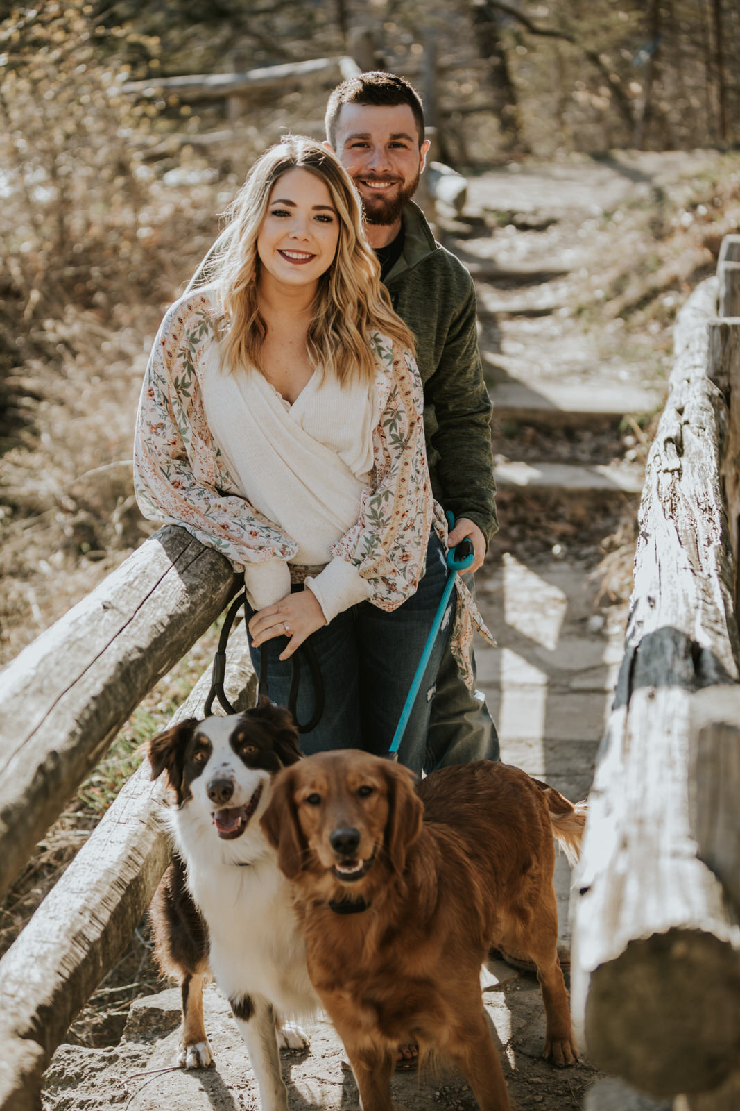 Lauren & Tom Adventurous Outdoor Engagement with Dogs