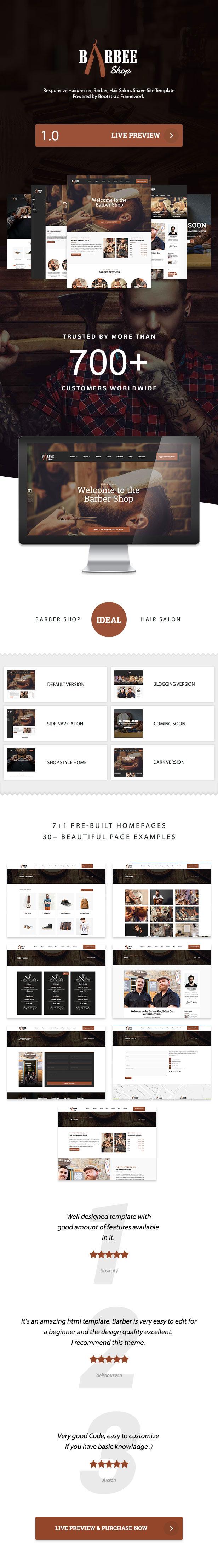 Barbee | Responsive Barber Shop & Hair Salon WordPress Theme - 3