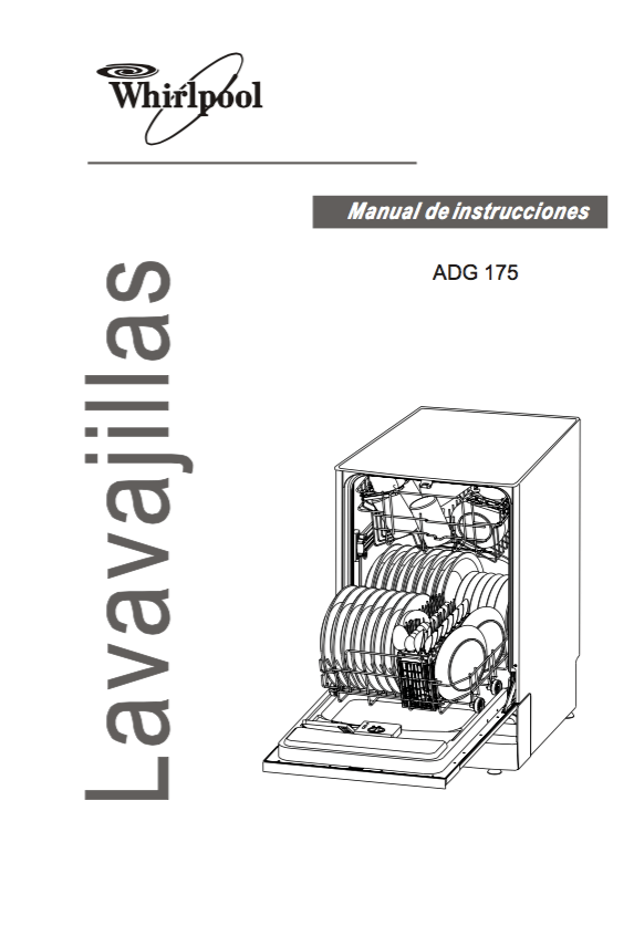 Descargar Manual lavavajillas Whirlpool ADG 175 / Zofti