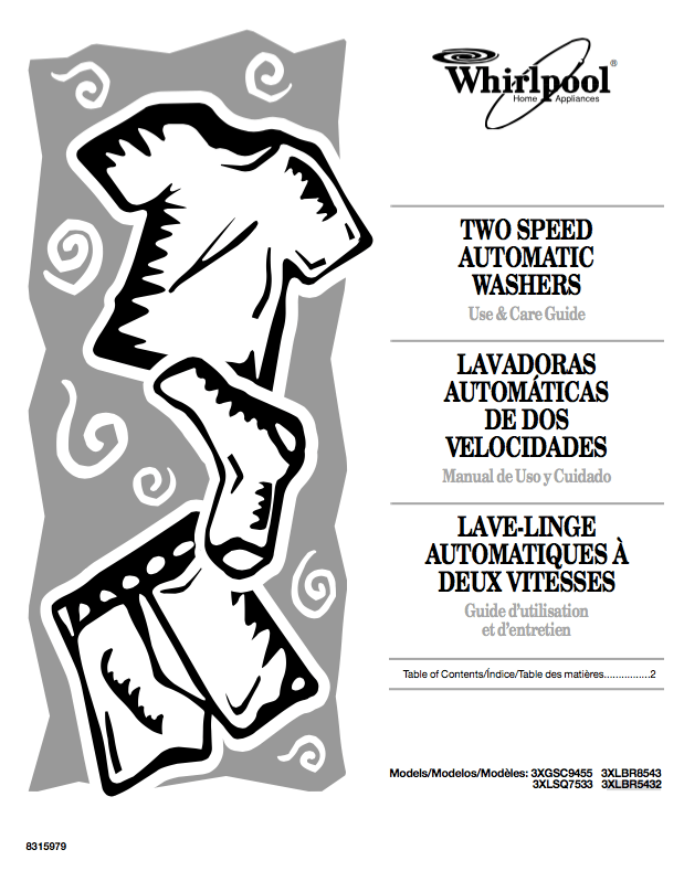 Descargar Manual lavadora Whirlpool con símbolos / Zofti