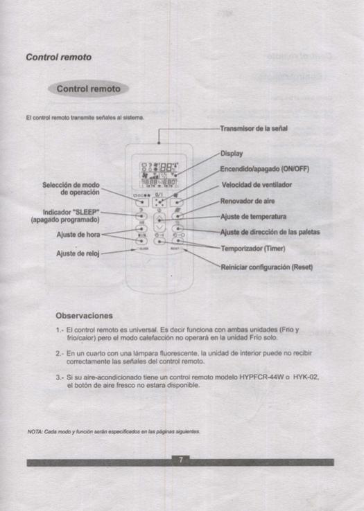 Descargar Manual aire acondicionado Panavox Split / Zofti