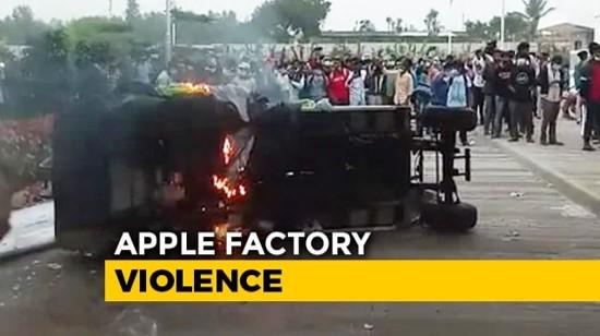 300 עובדים נעצרו בהודו לאחר שהפגינו במפעל של ספקית האייפון