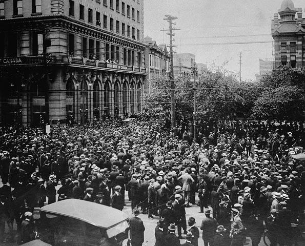השביתה הכללית של 1919 בעיר וויניפנג, קנדה ; האירועים המכוננים של תנועת העבודה הקנדית