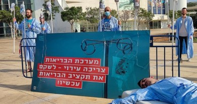 פעילים יפגינו בעת ישיבת הממשלה בירושלים בדרישה להגדלת תקציב הבריאות