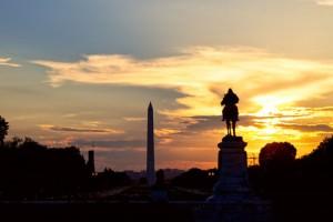 Washington DC at sunset