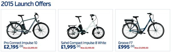 Electric bike 2015 Launch Offers