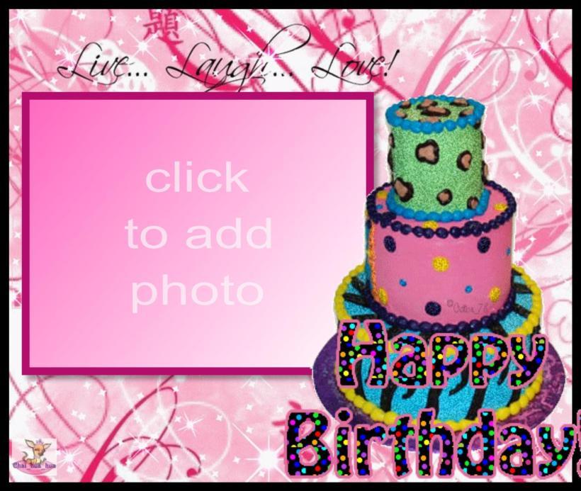 Imikimi Photo Frame Birthday Cake Amtframe