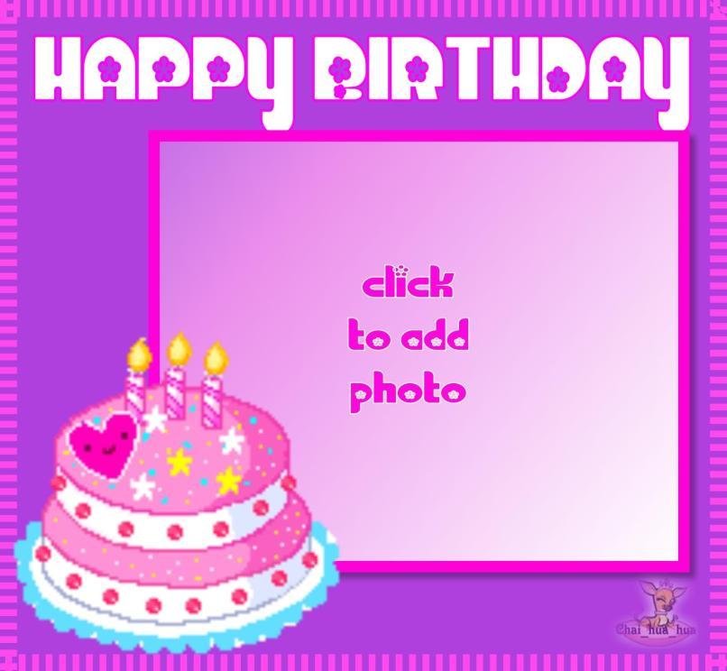 Happy Birthday Cake Photo Frame Editor Oceanfur23 Com