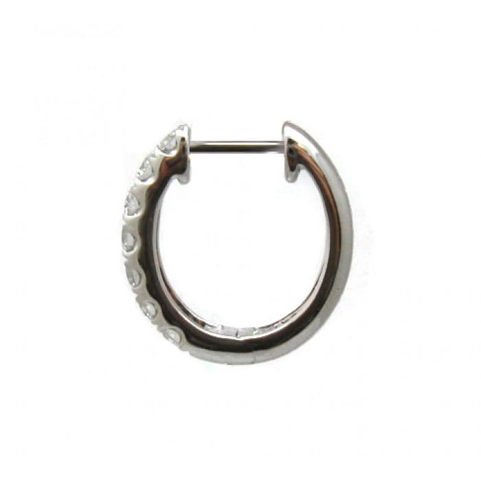 Diamond Hoop Huggie Earrings