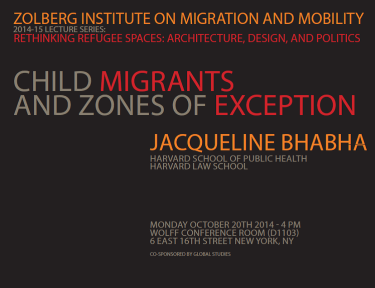 Child Migrants and Zones of Exception - Bhabha