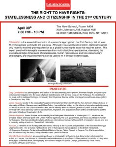 Statelessness Panel Flyer