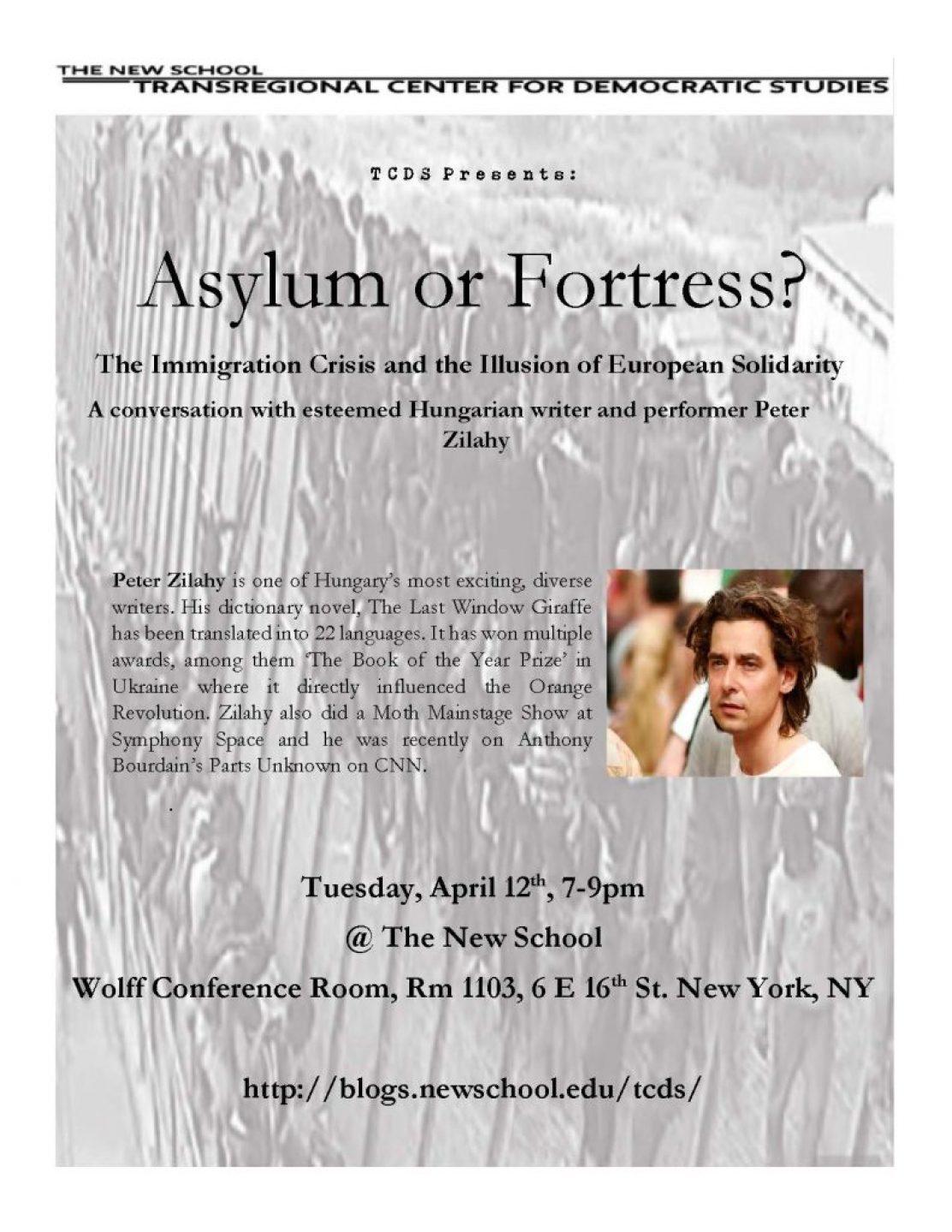 Asylum or Fortress Flyer