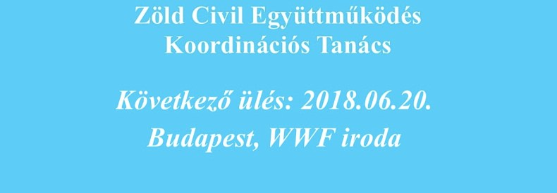 Következő Koordinációs Tanács ülés: 2018.06.20.