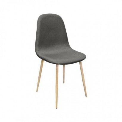 chaise style scandinave en tissu chine gris cylde