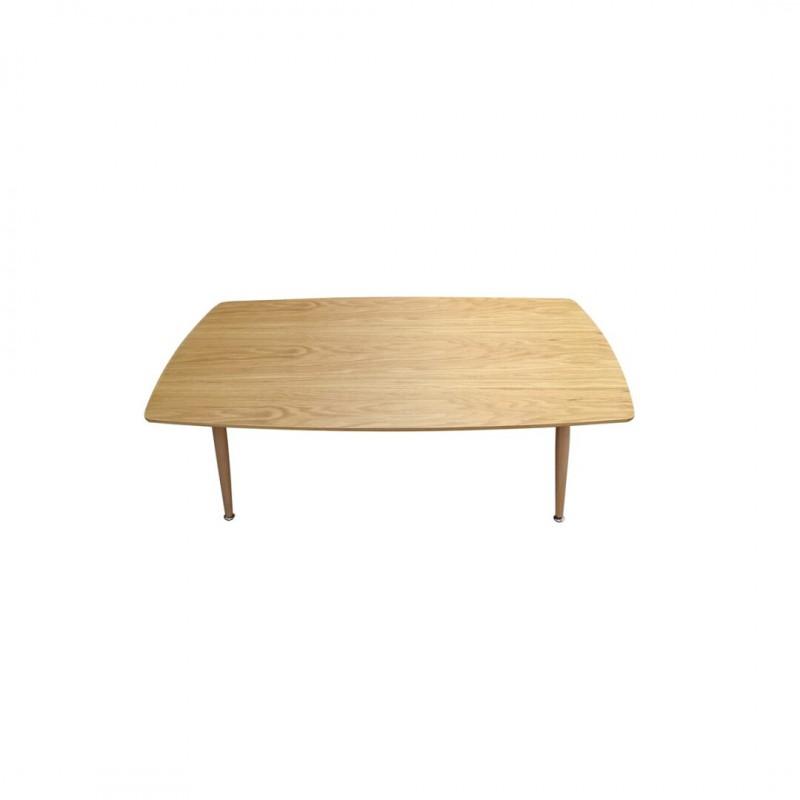 table basse entierement et bois rectangulaire