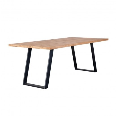 dining room table 4 6 persons solid oak wood 160cm
