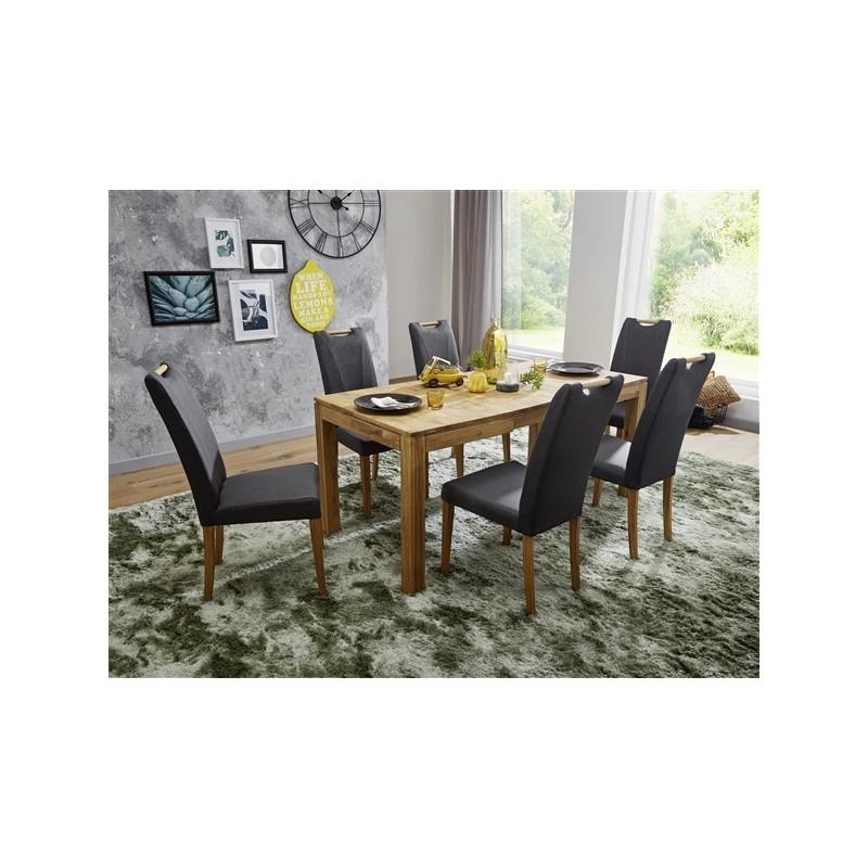 table de salle a manger 8 10personnes naturel bois chene massif 200cm