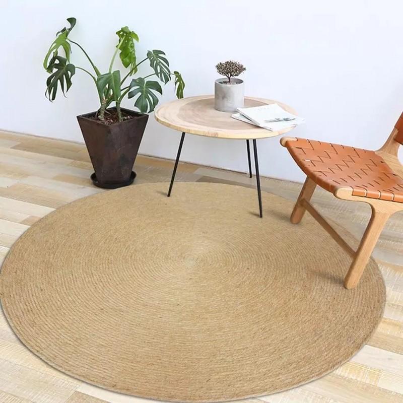 tapis rond en jute naturelle d90cm