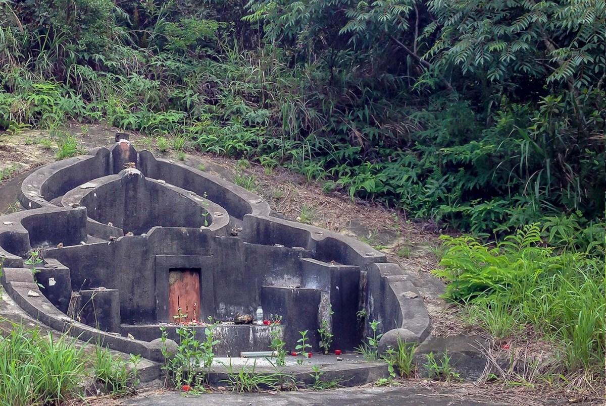 Tomb on Olympic Trail on Lantau island