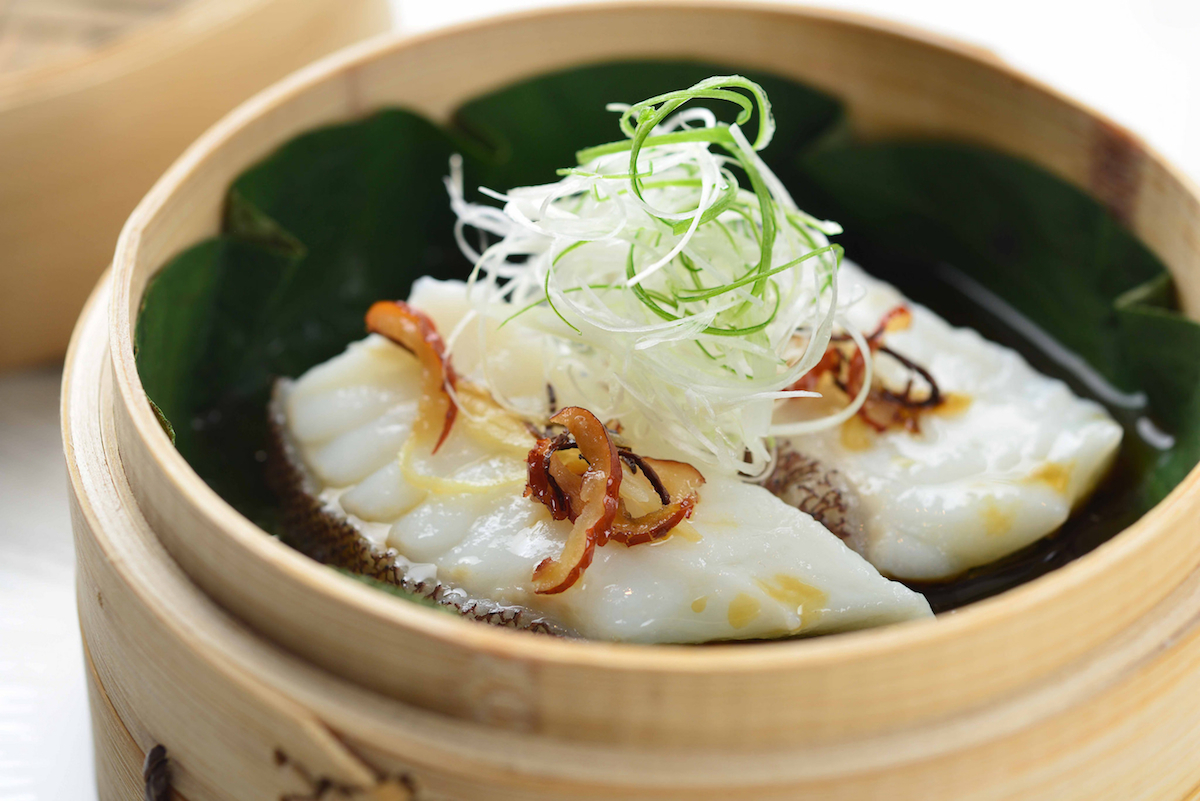 Courtesy of Yan Toh Heen_- Steamed Garoupa fillet with red dates and Mandarin zest
