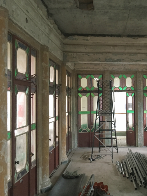 Haw Par Mansion during restoration, 2017. Photo by Christopher DeWolf