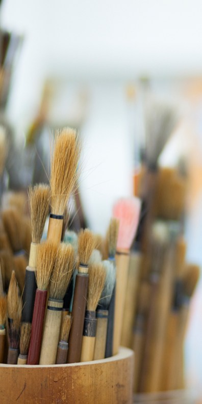 Gongbi brushes - Photo by Viola Gaskell