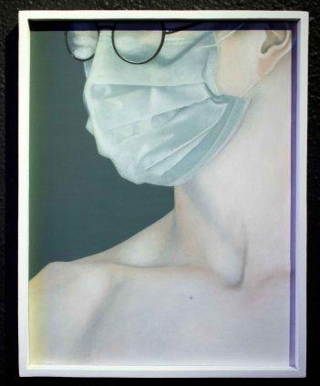 Man II by Lee Yan Yee - Acrylic on wood