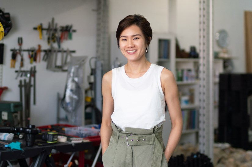 Leelee Chan in her studio - Photo by William Furniss for Zolima CityMag