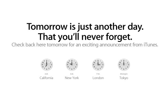 Apple Says Tomorrow is Just Another Day That You'll Never