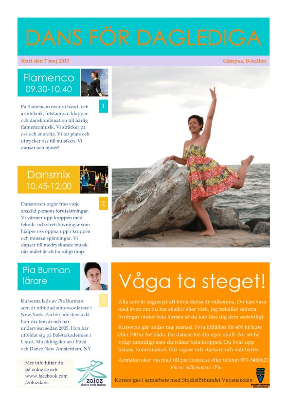 Info dans för daglediga i Skellefteå