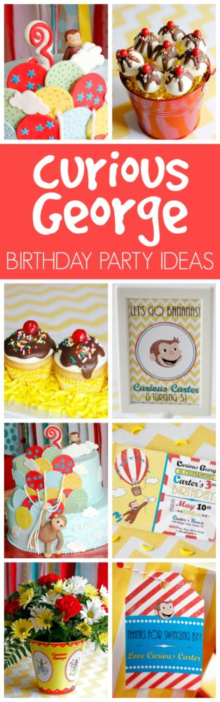 curious george birthday party curious