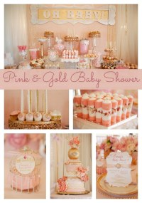 Whimsical Pink and Gold Baby Shower - Pretty My Party ...