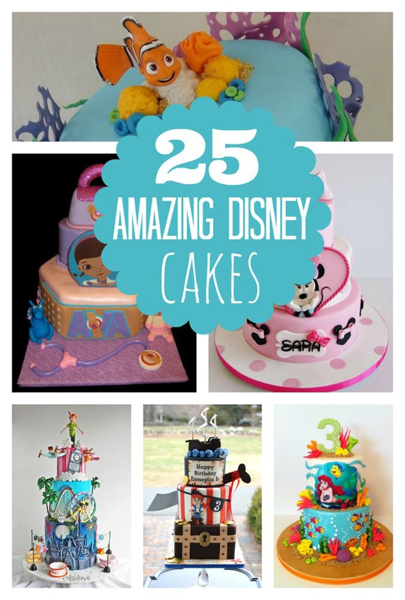 25 Amazing Disney Inspired Cakes Pretty My Party Party