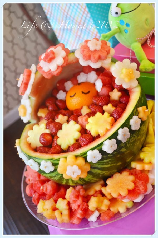 Baby Shower Watermelon Carving : shower, watermelon, carving, Creative, Watermelon, Fruit, Salads, Pretty, Party, Ideas