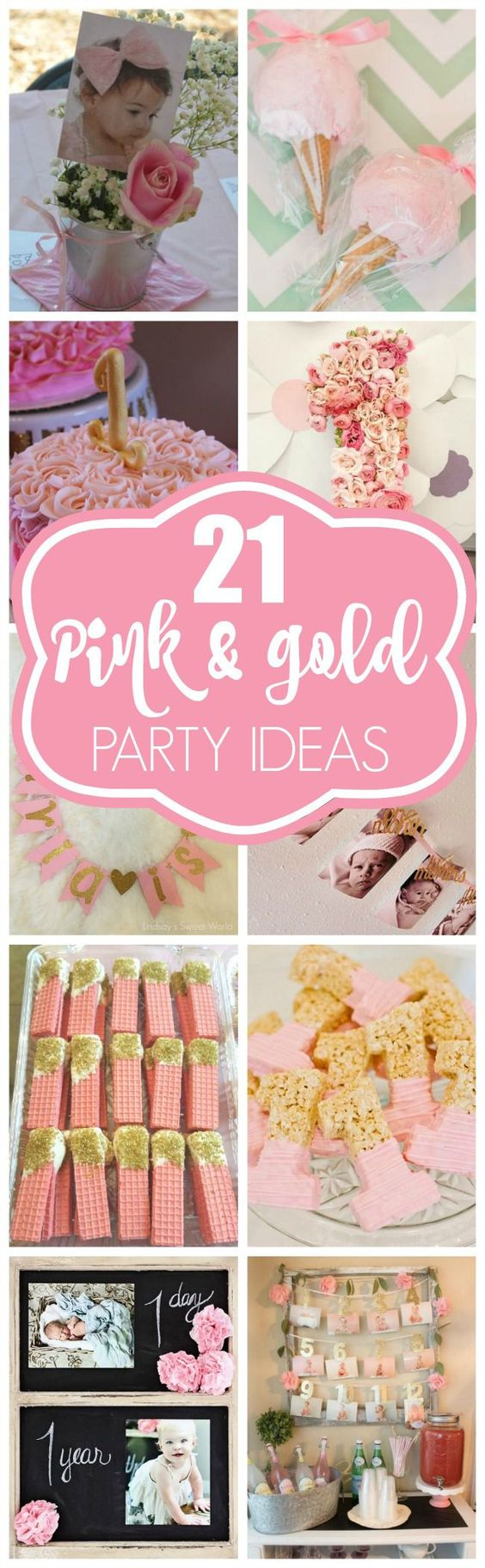 21 pink and gold