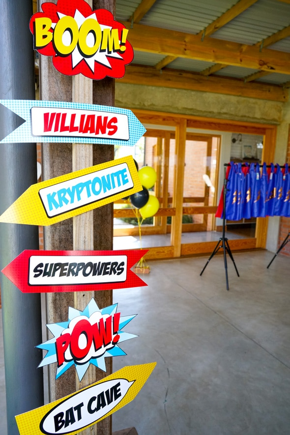 POWerful Superhero Birthday Party