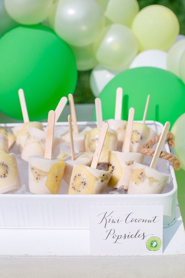 Stylish Kiwi Themed Brunch  Pretty My Party  Party Ideas