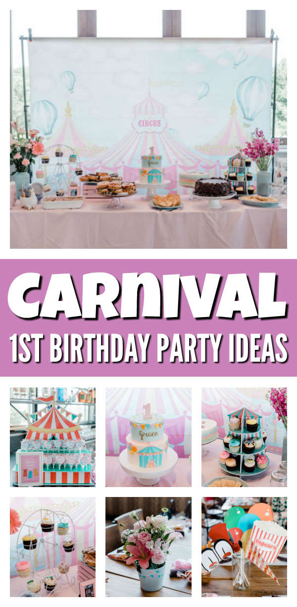 carnival first birthday party pretty