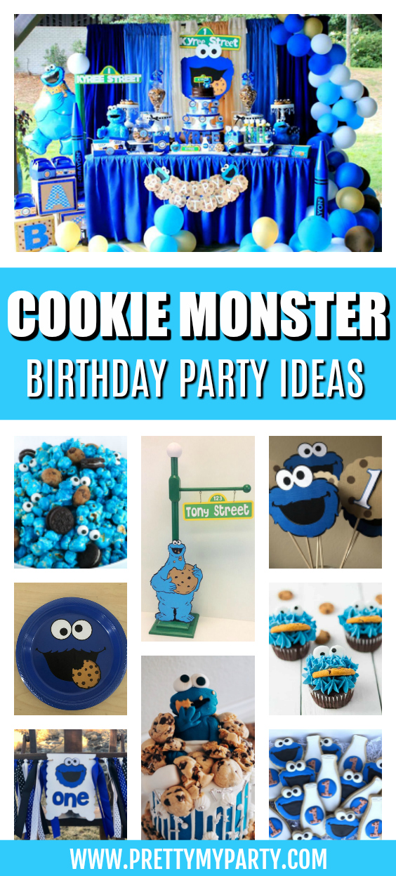cookie monster party ideas pretty my