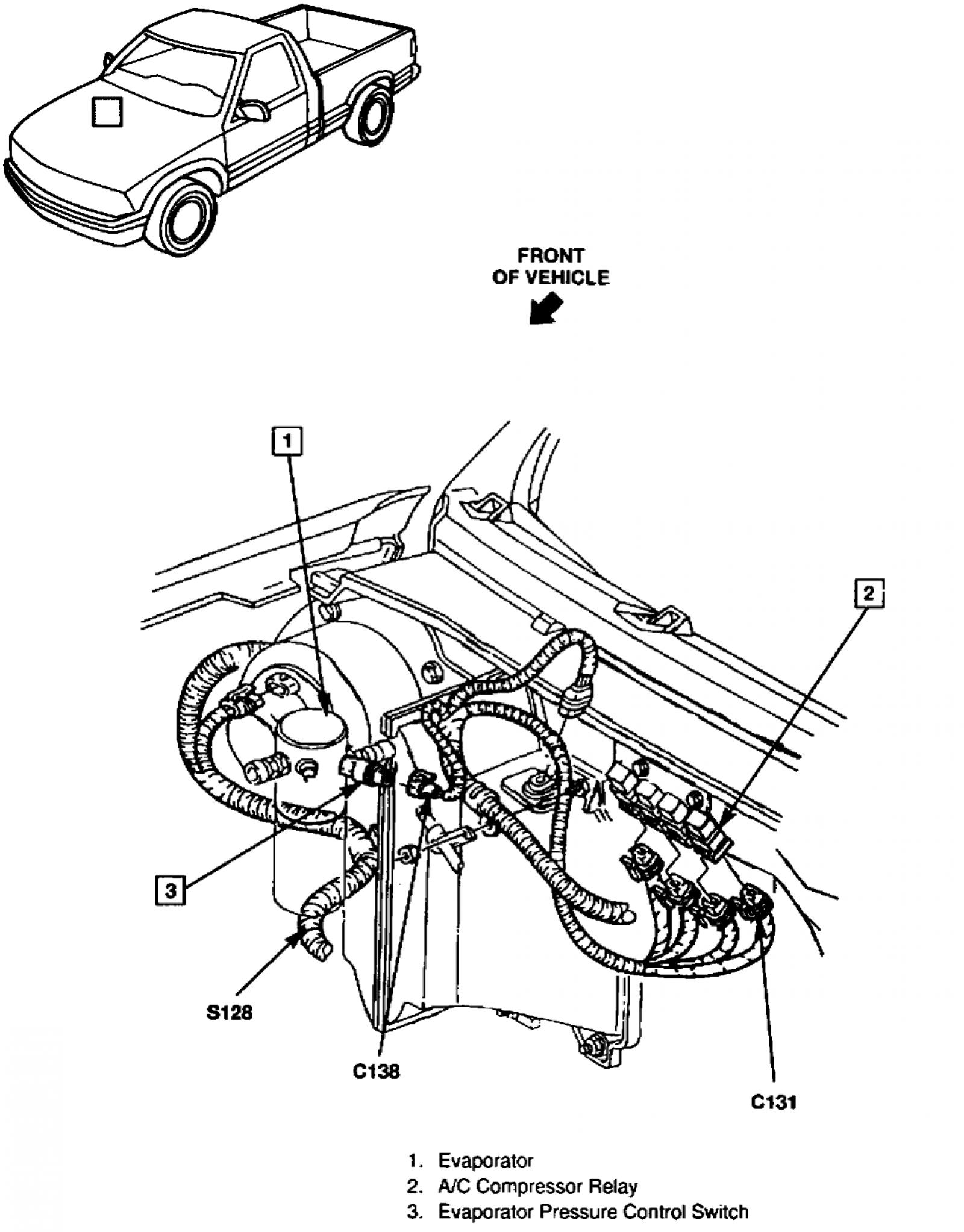 1998 Gmc Sonoma Under The Hood Diagram
