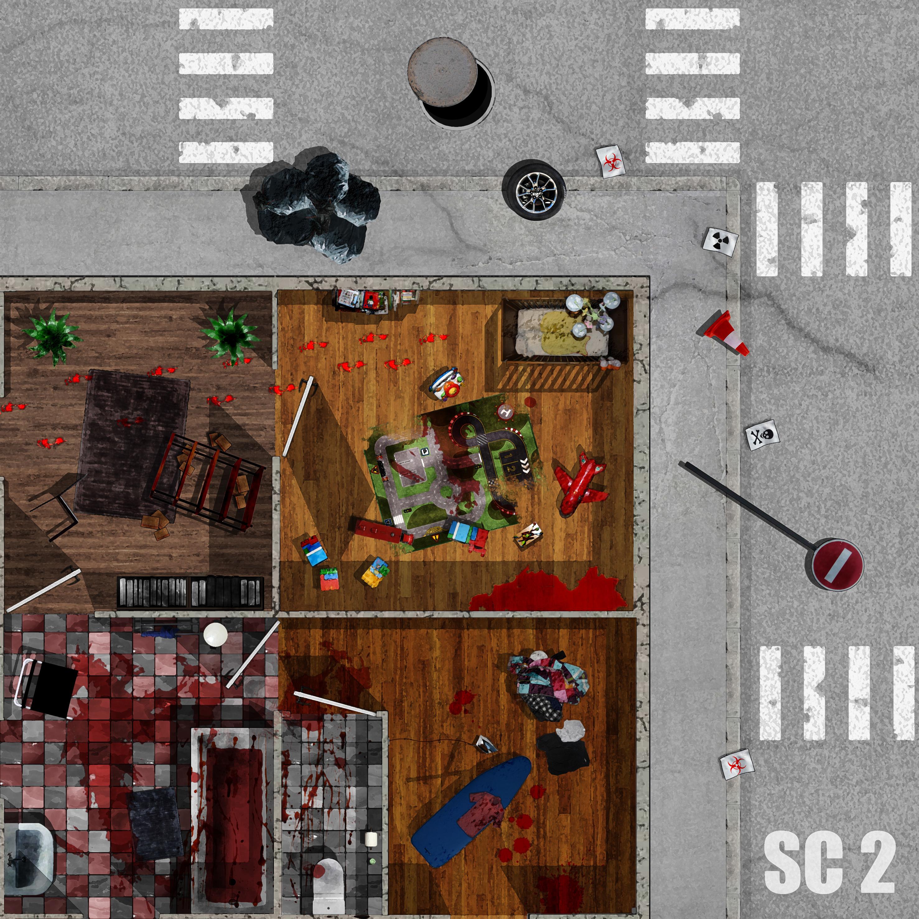 Sin4k dalles sc01 sc02 sc03 et sc04 zombicide fan site for Porte zombicide