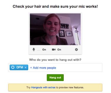 Google Plus Hangout Example