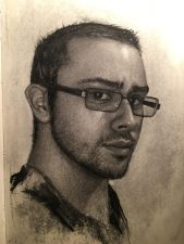A Self Portrait done in Charcoal